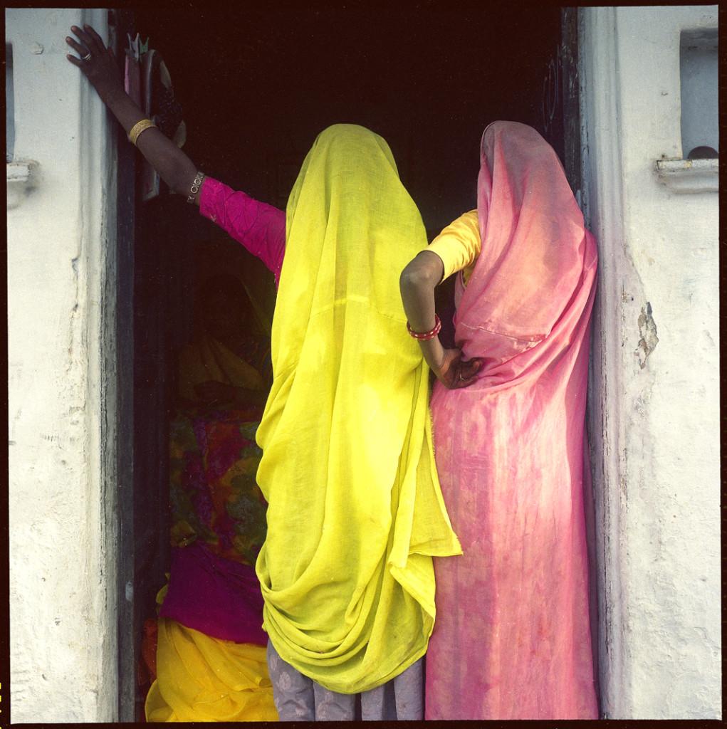 2 women in doorway